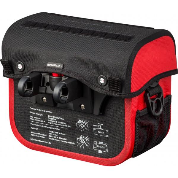 Bolsa de guidão MSX - Impermeável - Vermelha
