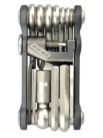 Canivete de chaves com 18 peças e chave de corrente de bike