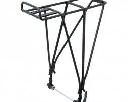 Bagageiro para bicicletas sem furação. Conecta no blocante e desvia de freio a disco