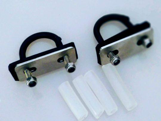 Kit Abraçadeira para fixar bagageiro para quadros sem furação – 20 mm