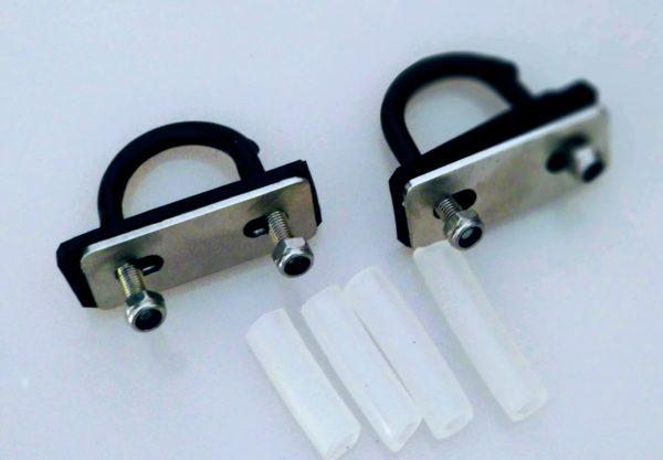 Kit Abraçadeira para fixar bagageiro para quadros sem furação – 20 a 26 mm