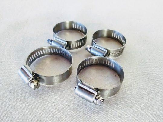 Abraçadeira de suspensão rosca sem fim de 32 a 44 mm em inox